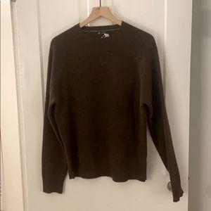 J. Crew Chestnut 100% Lambswool Crewneck Sweater
